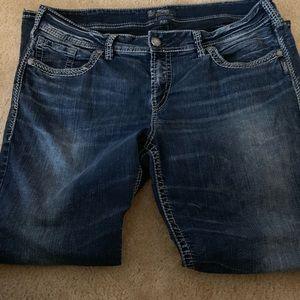 Silver Sukiyaki Boor Cut jeans size 18
